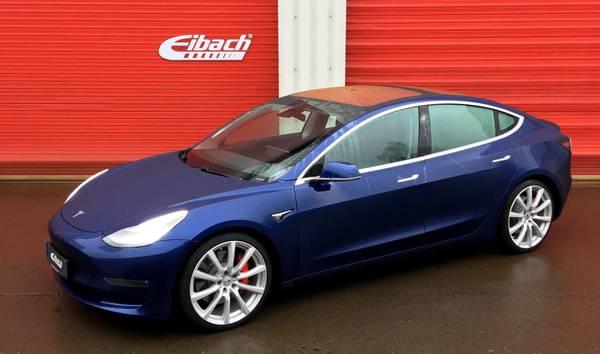 Bilde av Eibach senke sett Tesla Model 3