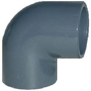Bilde av PVC Bend 90 grader (kort) 25mm