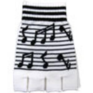 Bilde av Fingerhansker med svart/hvit musikkmønster
