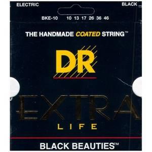 Bilde av DR Strings EXBK10 Black Beauties Medium Electric