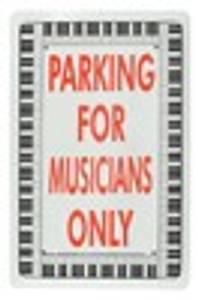 Bilde av Parkering for Musikanter - Skilt