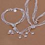 Multihjertesett - halskjede, armbånd og øredobber