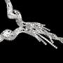 Krystallsett med øredobber og halssmykke