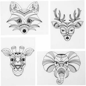 Bilde av Krympeplast med safaridyr