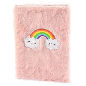 Bilde av Fluffy notisbok med regnbue