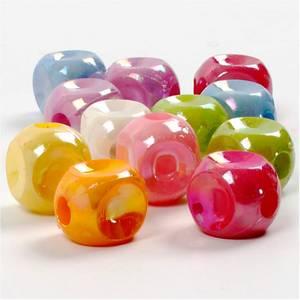 Bilde av Blanke Terningmix  perler