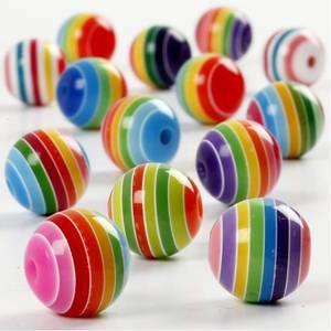 Bilde av Runde Stripede perler 12mm