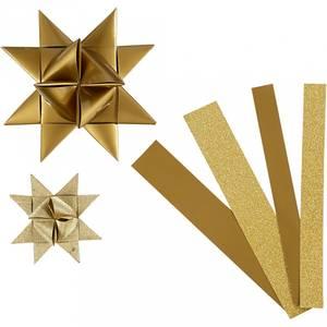Bilde av 3D Papir stjerner med glitter