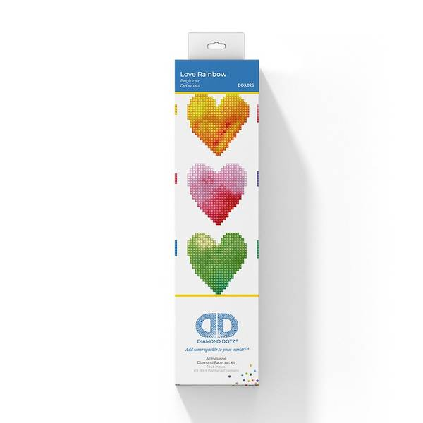 Diamond dotz, Love Rainbow Hjerter