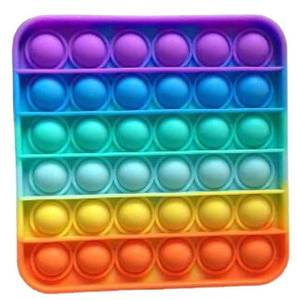 Bilde av Push Pop, firkantet rainbow