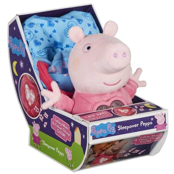 Bilde av Peppa Pig med sovepose 25 cm - med lyd og lys