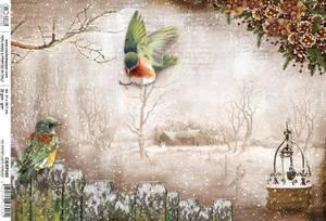 Bilde av Ciao Bella - Rice Paper Sheet A4 - No Winter Lasts Forever