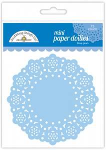 Bilde av Doodlebug Design - 4603 - Mini Paper Doilies - Blue Jean - 75 st