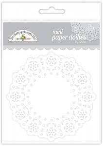 Bilde av Doodlebug Design - 4605 - Mini Paper Doilies - Lily White - 75st