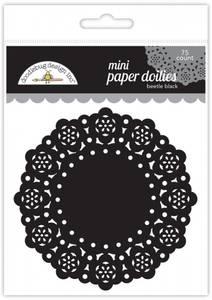 Bilde av Doodlebug Design - 4607 - Mini Paper Doilies - Beetle Black - 75
