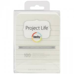 Bilde av PROJECT LIFE - CARDSTOCK 380307 - LINED CARDS CREAM 3X4