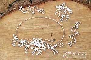 Bilde av Scrapiniec - Chipboard - 4827 - Mistletoe - Large oval frame