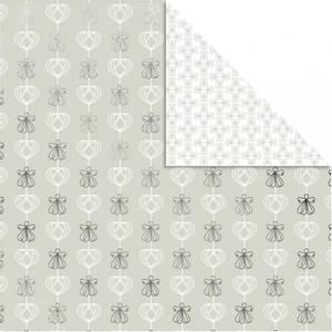 Bilde av Vivi Gade - Designpapir - sølv - engler og hjerter - 3 stk ark