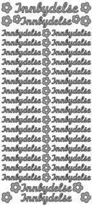 Bilde av Klistremerker - 0159 - Outline stickers - Innbydelse små - Sølv