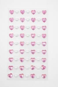 Bilde av Kort & Godt - Stickers - ST-143 - Perle & hjerte - Rosa