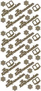 Bilde av Klistremerker - 0189 - Outline stickers - Til Konfirmanten -Gull