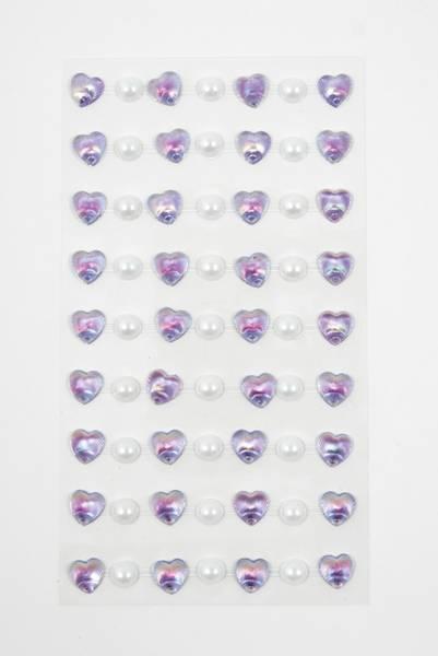 Kort & Godt - Stickers - ST-144 - Perle & hjerte - Lilla