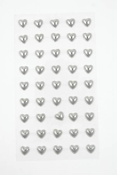 Kort & Godt - Stickers - ST-150 - Perle hjerte - Sølv