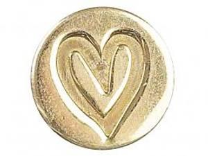 Bilde av Manuscript - Wax Sealing Coin - Hjerte (Løs stempelsegl)