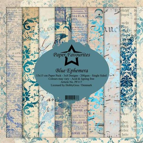 Paper Favourites - 6x6 Paper Pad - PF117 - Blue Ephemera