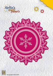 Bilde av Nellie Snellen - MFD109 - Die - Round Christmas wreath snowflake