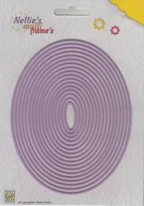 Bilde av Nellie Snellen - MFD102 - Multi Frame Dies - Straight Oval 2