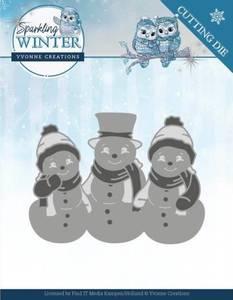 Bilde av FIT - Dies - YCD10191 - Yvonne Creations - Sparkling Snowmen