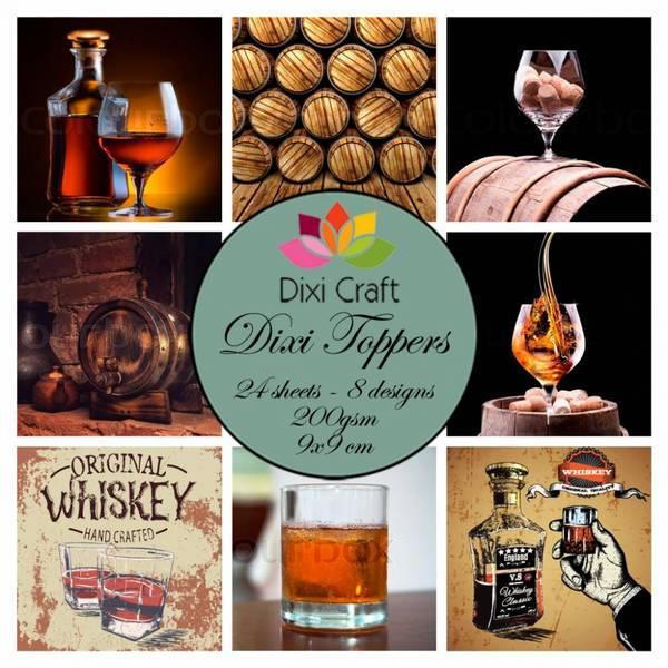Dixi Craft - Dixi toppers - ET0329 -  Whiskey