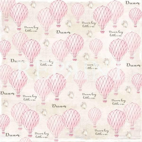 Reprint - 12x12 - RP0225 - Dream Big - Pink Air balloons