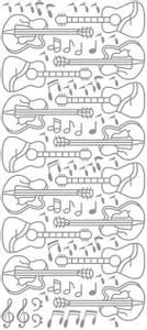 Bilde av Klistremerker - 0326 - Outline stickers - Gitar - Sølv