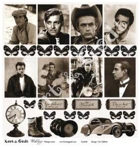 Bilde av Kort & Godt - Utklipp 7720 - Vintage mann