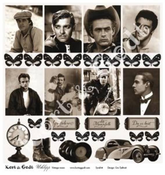 Kort & Godt - Utklipp 7720 - Vintage mann
