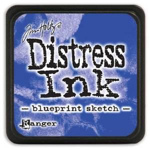 Bilde av Distress - Mini Ink Pad - Blueprint Sketch