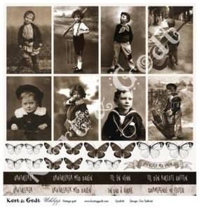 Bilde av Kort & Godt - Utklipp 7737 - Vintage gutt
