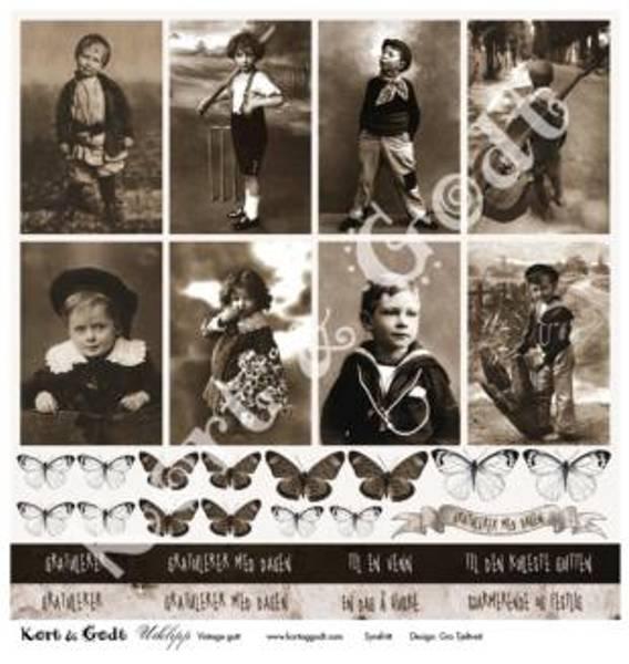Kort & Godt - Utklipp 7737 - Vintage gutt