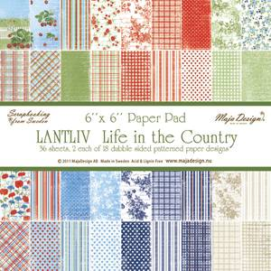 Bilde av Maja Design - 459 - Paper pad 6x6 - Life in the Country