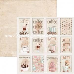 Bilde av Reprint - 12x12 - RP0443 - Coffee - Tags