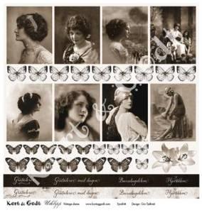 Bilde av Kort & Godt - Utklipp 7713 - Vintage dame