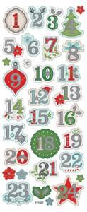 Bilde av Klistremerker - 0523 - Kalendertall /m folie embossing