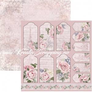 Bilde av Reprint - 12x12 - RP0448 - La Vie en Rose - Tags
