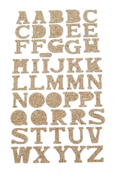 Kort & Godt - ST-158 - Kork - Alfabet
