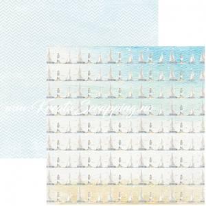 Bilde av Reprint - 12x12 - RP0455 - Seaside - Sailboats
