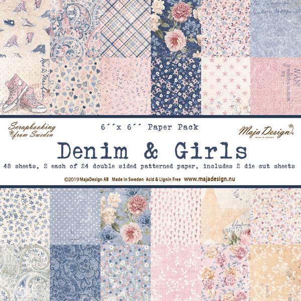 Maja Design - 1039 - Paper Pad 6x6 - Denim & Girls