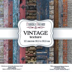 Bilde av Fabrika Decoru - 12x12 paper pack - 04006 - Vintage texture