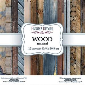 Bilde av Fabrika Decoru - 12x12 paper pack - 04007 - Wood natural